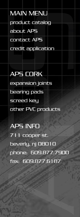 Cork Expansion Joints